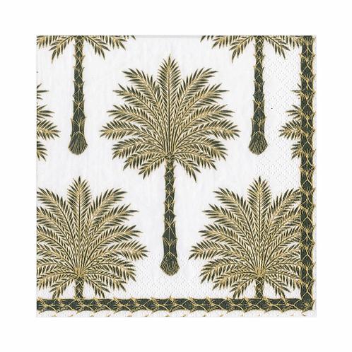 Caspari Paper Napkins - Grand Palms - Luncheon Size 20 per pack