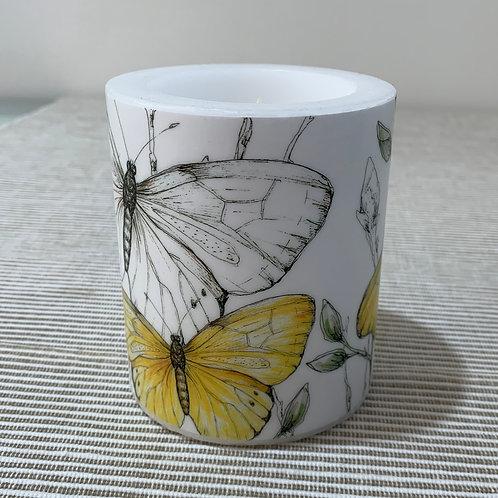 """Windlichtkerze """"Colourful Butterfly"""""""