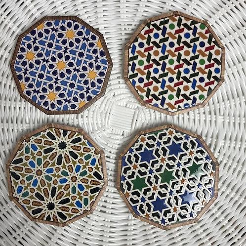 Ceramic Coasters - 'Morocco' - Set of 4