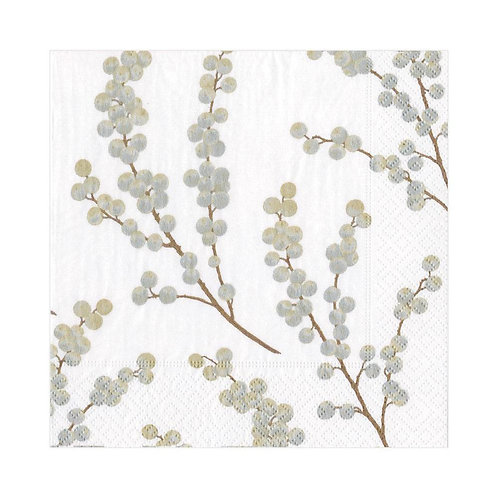 Caspari Paper Napkins - Berry Branches -Luncheon Size 20pack