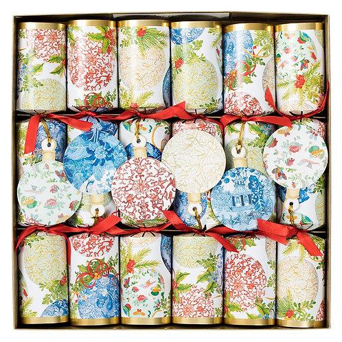Caspari Christmas Crackers -Porcelain Ornaments Six Pack
