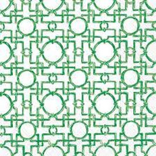 Paper Napkins - Aiko Trellis Green - Luncheon Size 20 Pack