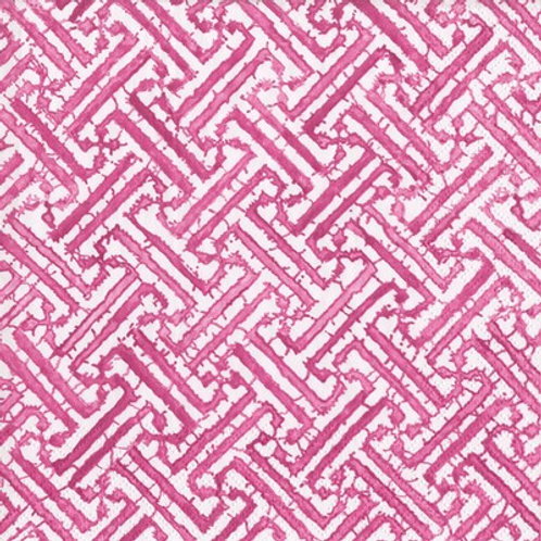 Caspari Paper Napkins - Fretwork - Fuchsia - Luncheon Size 20 Pack