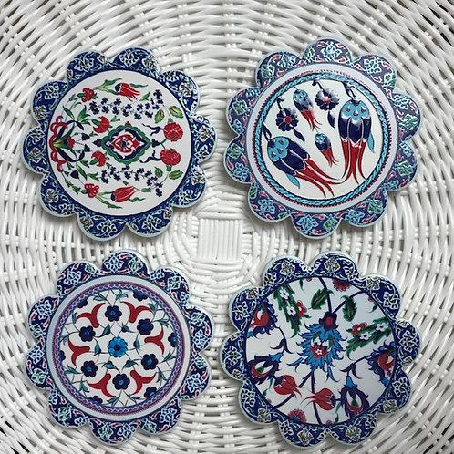 Ceramic Coasters - Spanish Style - Set of 4