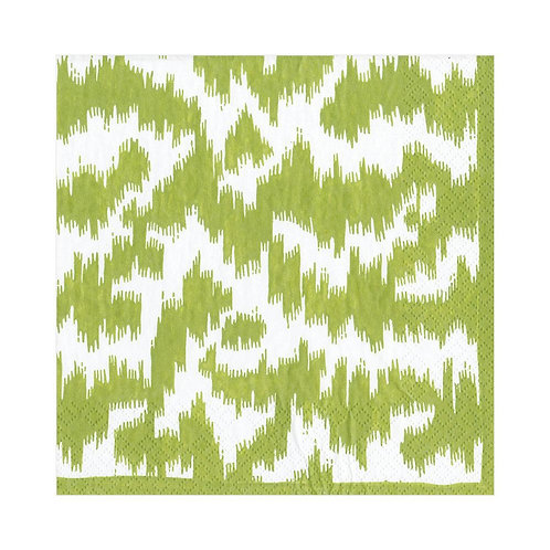 Caspari Paper Napkins - Modern Moire Green - Luncheon Size 20 per pa