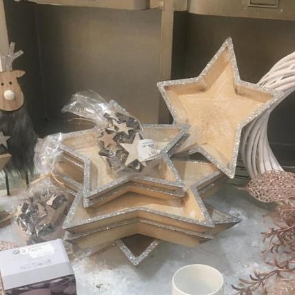 Sternschalen aus Holz mit Silber - ab € 6,95