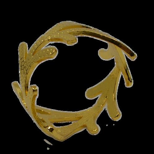 Gold Coloured Vine Napkin Ring