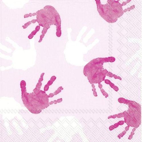 Paper Napkins - Little Hands Light Rose - Luncheon Size 20 Pack