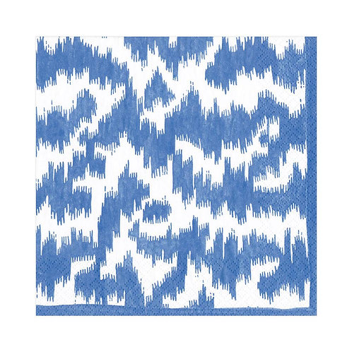 Caspari Paper Napkins - Modern Moire Blue - Luncheon Size 20 per pack
