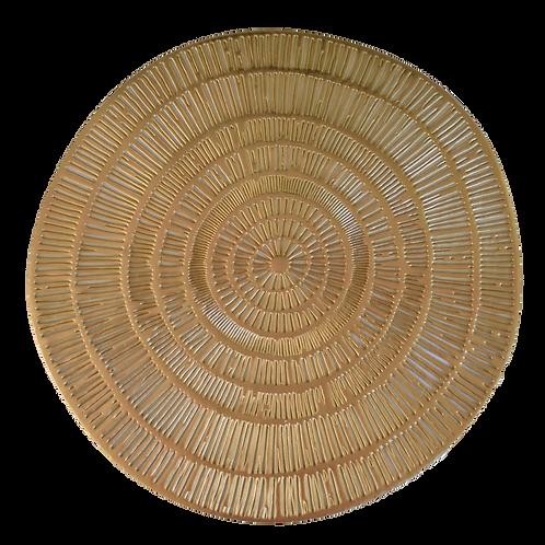 Gold Colour Circle PVC Placemat