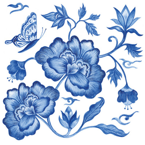 Paper Napkins - Princess Peony - Luncheon Size 20 Pack