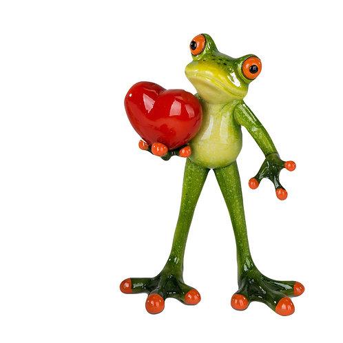 Frosch mit Herz stehend