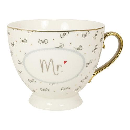 """Tasse mit Golddruck und Goldhenkel im Geschenkekarton """"Mr"""""""