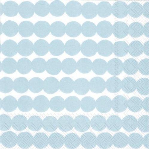 Cocktail Size Marimekko Paper Napkins - Rasymatto Light Blue - Pack of 20