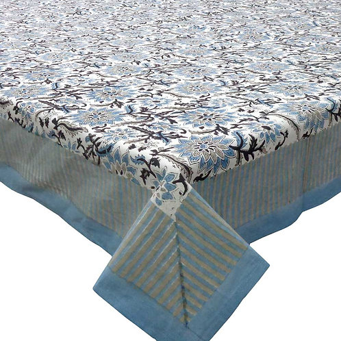 Block Printed Tablecloth 'Madhubala Grey'  *Rectangle