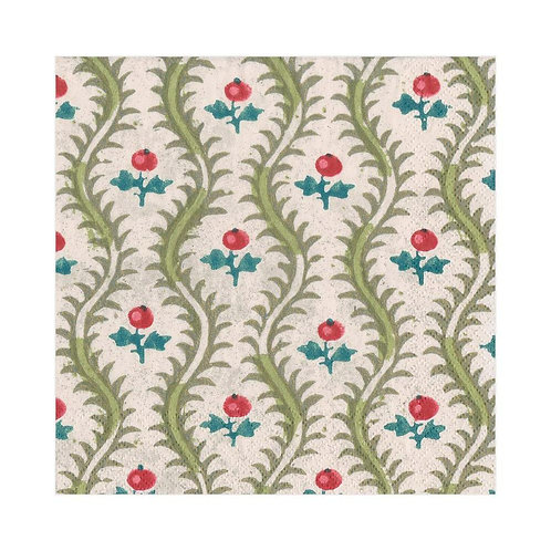 Caspari Paper Napkins - Holly -Luncheon Size 20pack