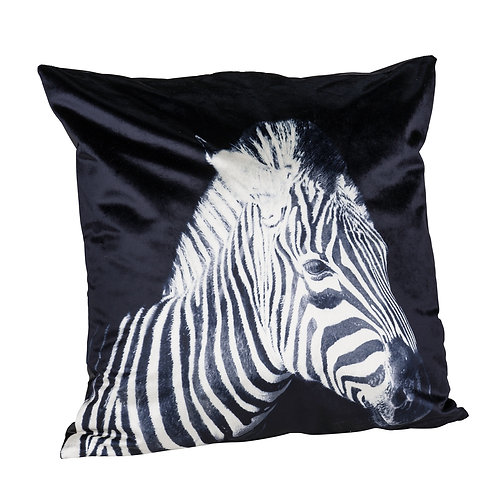 Samtkissen 'Zebra'