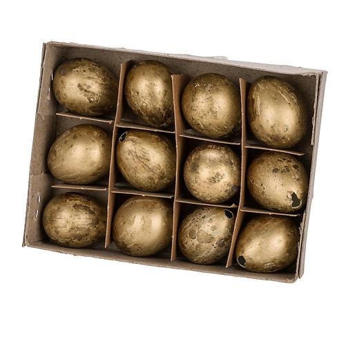Wachteleierset 12 tlg. - Gold