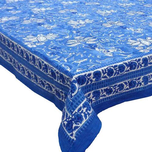 Block Printed Tablecloth Anarkali Blue Gud *Rectangle