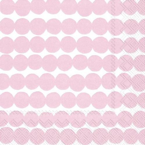 Cocktail Size Marimekko Paper Napkins - Rasymatto Pink - Pack of 20