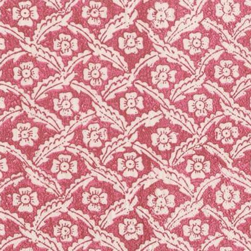 Caspari Paper Napkins -Floral Cross Red-Luncheon Size 20pack