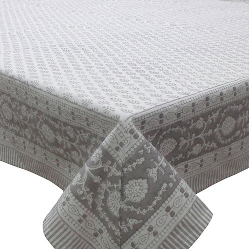 Block Printed Tablecloth 'Neem Drizzle' *Rectangle