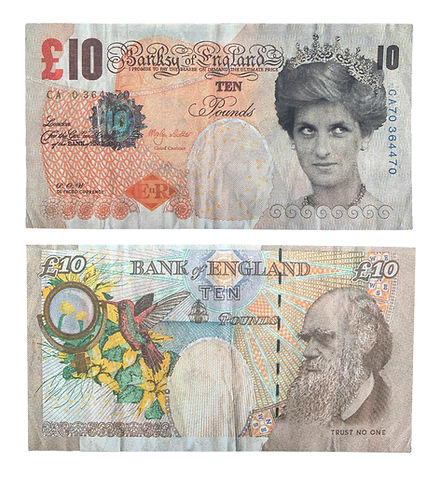 Authentc Banksy Di-Faced Tenner for sale