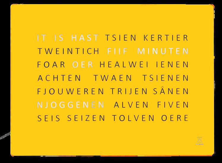 Friese FrysClock glas #2021 kleur mustard