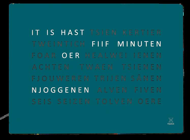 Friese FrysClock glas #2021 kleur petrol
