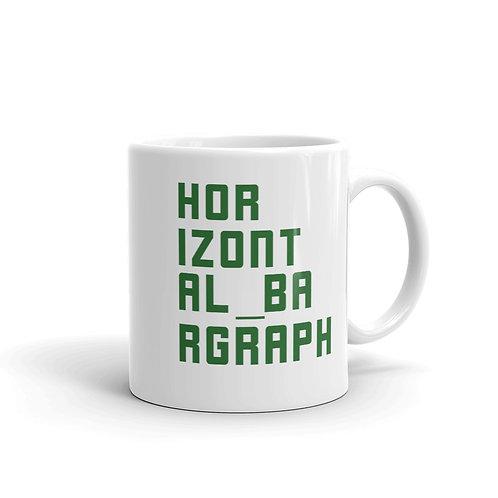 Dataviztypography - Horizontal Bargraph - Mug