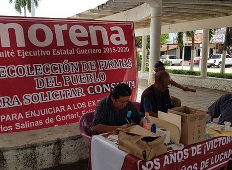A ocho municipios de Costa Grande llevan la consulta del juicio a ex presidentes