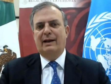 Ebrard habla de corrupción y democracia en la ONU