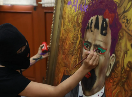 AMLO reprueba pintas a imagen de Madero en oficina de la CNDH