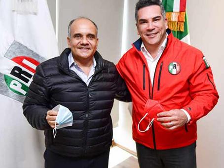 Se reúne Manuel Añorve con el líder nacional del PRI Alejandro Moreno