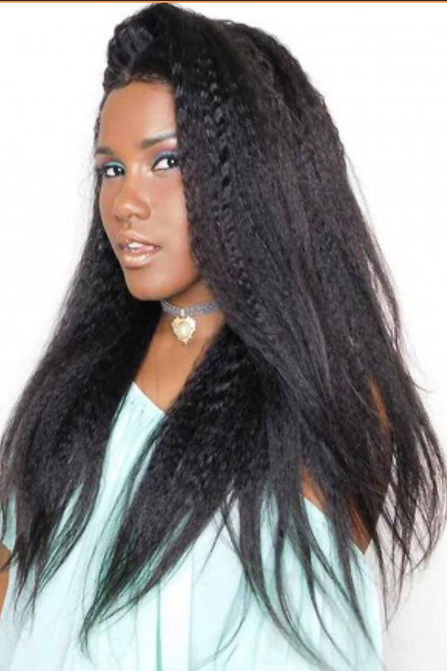 Brazilian Kinky Straight Lace Wig
