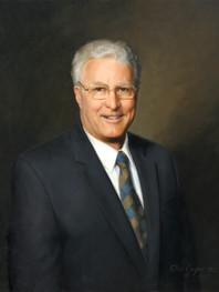 "John Stenger Esq. President, Buffalo Club Buffalo, NY 29x25"" Oil on linen"