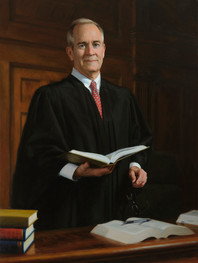 """Honorable Laurance B. VanMeter Kentucky Supreme Court 5th District 47x34"""" Oil on linen"""