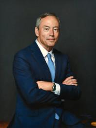"Mr. John Malloy Chairman and CEO Victaulic Easton, PA 34x26"" Oil on linen"