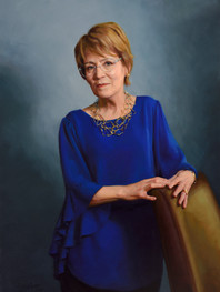 "Mary Sue Coleman, Ph.D. President, University of Iowa 40x28"" Oil on linen"