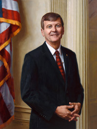 "Robert A. Biggs Executive Vice President and CEO Phi Delta Theta Oxford, Ohio 38x29"" Oil on linen"