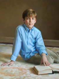 """Baker Private Collection 35x29"""" Oil on linen"""