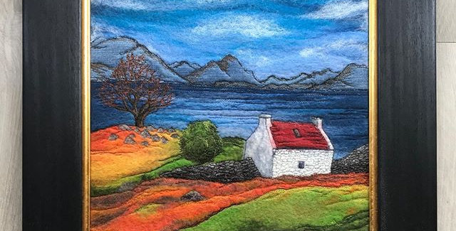 Bothy on the Loch - Professionally Framed Original Painting