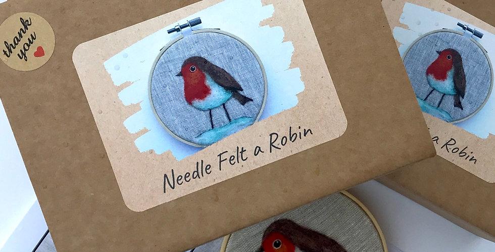 Needle Felt a Robin - Craft Kit with PDF instructions
