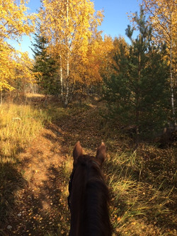 Warm October day ride