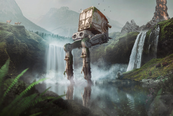 Photoshop Speed Art - The Last AT-ST - MOD.jpg