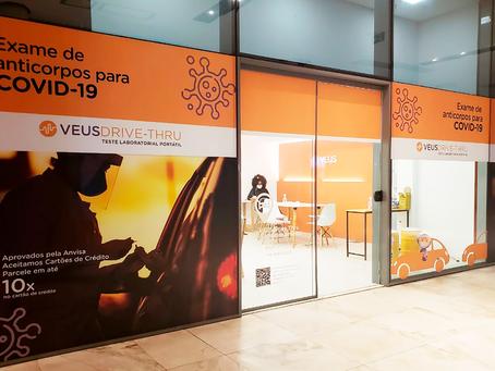 Veus inaugura unidade premium para exames de COVID-19 no Bossa Nova Mall