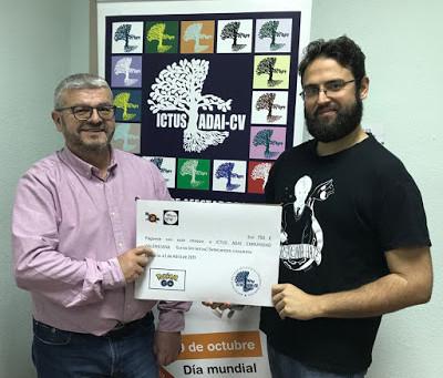 La Comunidad Pokemon Valencia premia el Proyecto de ADAI CV de información y prevención del ICTUS