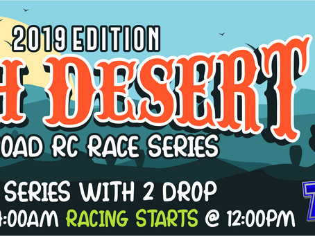 High Desert Off-Road RC Race Series – 2019 – Race #3 Points Results