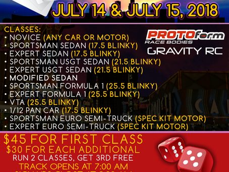 High Rollers On-Road Race – July 14th and 15th