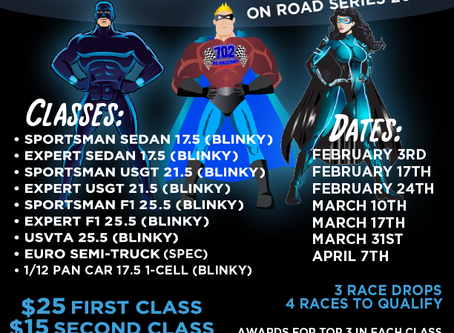 Super Sunday On-Road Series Update:  Time Change for Feb 3